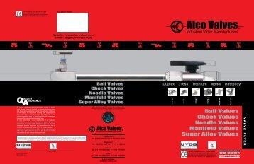 Alco Valves General Flyer