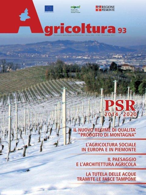 Rivista Agricoltura Regione Piemonte N 93 Dicembre 2017