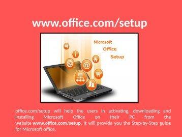 Microsoft Office Setup 1-888-909-0535 www.office.com/setup