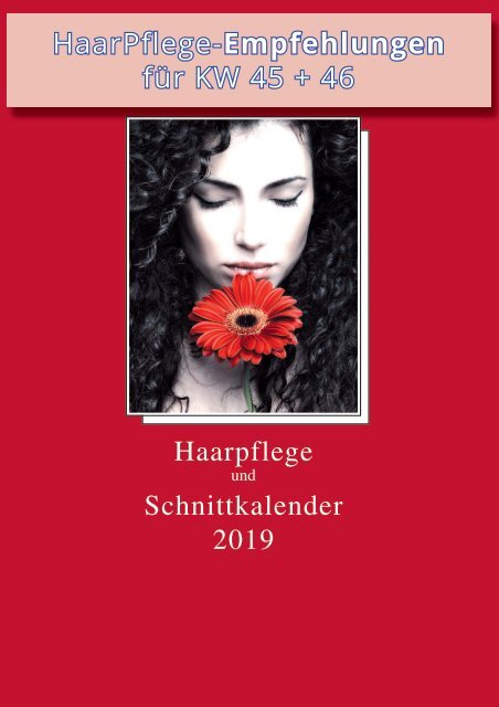 GRATIS  Download - Metatron Verlag - Haarpflege- und Schnittkalender 2019 - KW 45 + 46