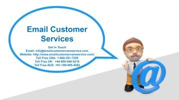 Email Customer Services Number 18003617250 For Help