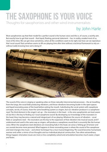 The Saxophone Is Your Voice by John Harle