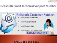 1-844-355-5111 Bellsouth Email Technical Support Number