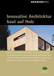 Innovative Architektur baut auf Holz - Wald.ch