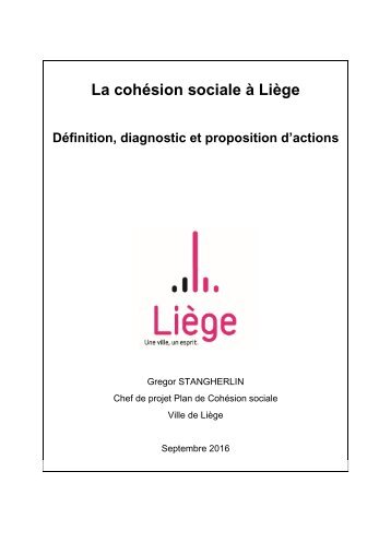 Analyse et diagnostic du Plan de Cohésion sociale de la Ville de Liège