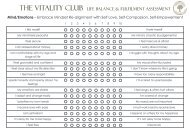 Mind, Body and Soul Life Alignment Assessment