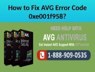 Call 1888-909-0535 to Fix AVG Error Code 0xe001f958