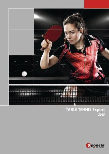Sponeta - Table Tennis Catalog Export 2018 (english)