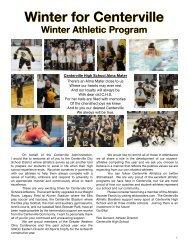2018 Centerville Winter Program