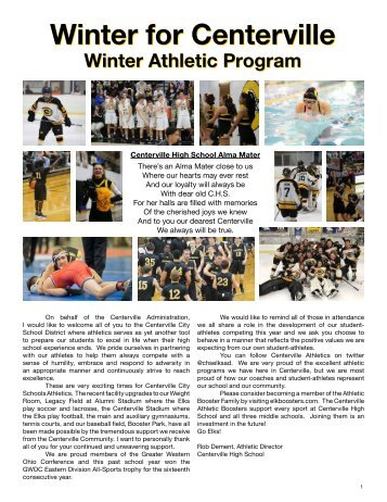 2018 Centerville Winter Program