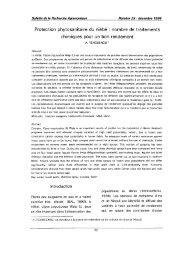 Protection phytosanitaire du niébé : nombre de traitements ... - Slire