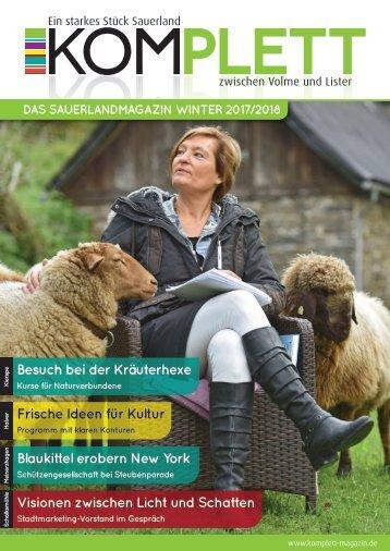Komplett. Das Sauerlandmagazin. Zwischen Volme und Lister. Ausgabe Winter 2017/2018