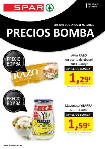 SPAR FOLLETO OFERTAS PRECIOS BOMBA hasta 31 de enero 2018