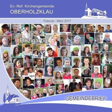 Gemeindebrief Ev.-Ref. Kirchengemeinde Oberholzklau Febr.-März 2017 - Online-Version