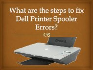 What are the steps to fix Dell Printer Spooler Errors?