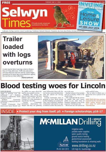 Selwyn Times: May 17, 2016