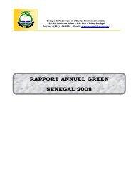 RAPPORT ANNUEL GREEN SENEGAL 2008 2008