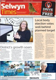 Selwyn Times: October 04, 2016