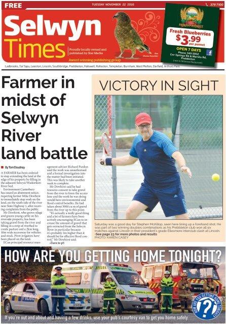 Selwyn Times: November 22, 2016