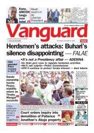 23012018 - Herdsmen's attacks: Buhari's silence disappointing — FALAE