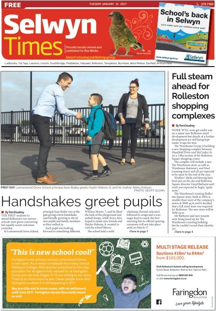 Selwyn Times: January 31, 2017
