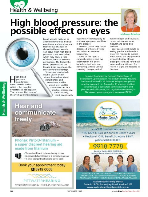 Pittwater Life September 2017 Issue