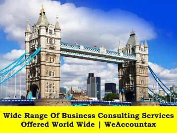 Wide Range Of Business Consulting Services Offered World Wide | WeAccountax