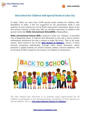Best School for Children with Special Needs in Lake City