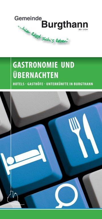 Unterkunfts- und Gastronomiebroschüre Gemeinde Burgthann