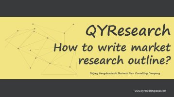 How to write market research outline?