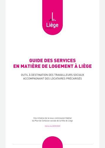 Guide des services en matière de logement à Liège