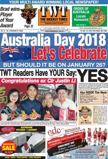 The Weekly Times - 24th January, 2018