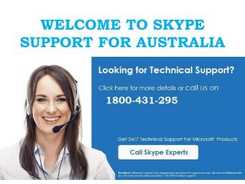 Get Call Skype Customer Support Number Australia 1800-431-295