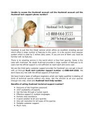 Hushmail Tech Support Number 1-888-664-3555