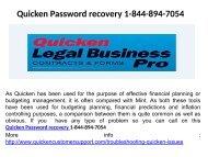 Quicken Customer Service Number 1-844-894-7054