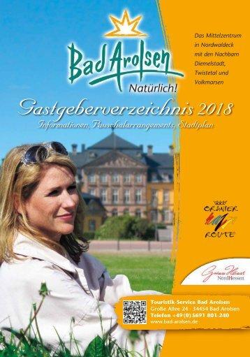 Gastgeberverzeichnis Bad Arolsen 2018