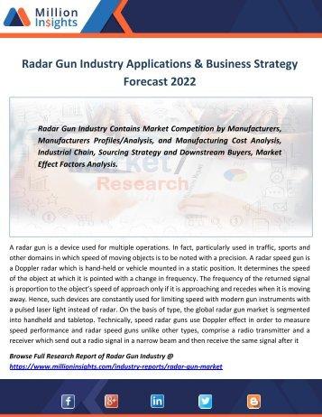 Radar Gun Industry Applications & Business Strategy Forecast 2022
