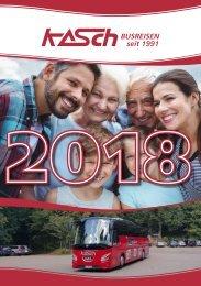KASCH Busreisen - Reisekatalog 2018