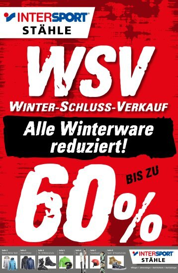 Winterschlussverkauf 2018 Bad Dürrheim, VS-Villingen und VS-Schwenningen