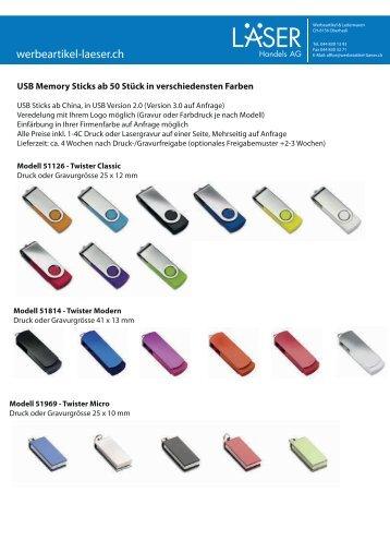 USB-Memory-Sticks mit Firmenlogo bedrucken