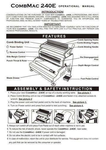 Akiles CombMac-240E Electric Comb Binding Machine - Printfinish.com