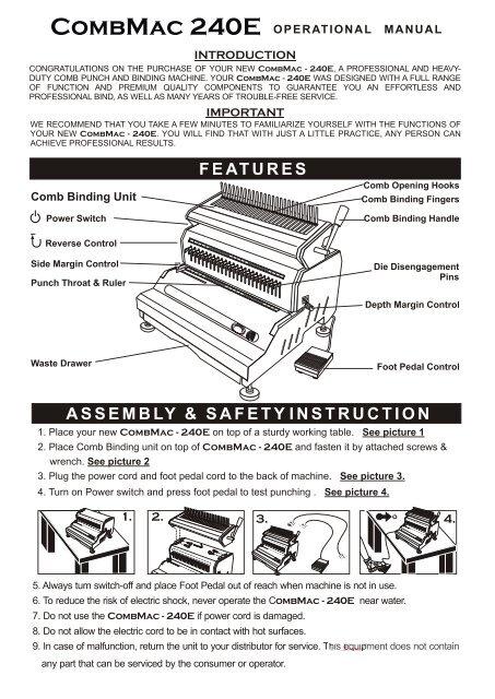 Akiles CombMac-240E Electric Comb Binding Machine