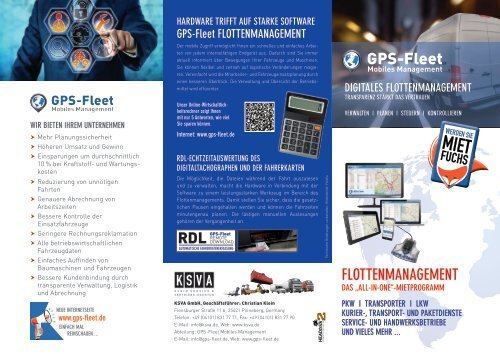 KSVA Fleetmanagementflyer