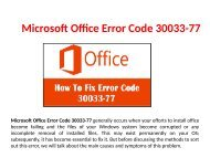 MS Office Error Code 30033-77 Call 1-888-909-0535 Number