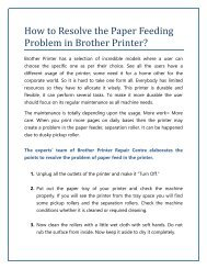 How to Resolve the Paper Feeding Problem in Brother Printer