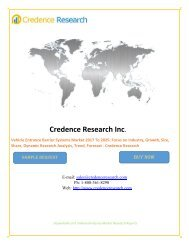Vehicle Entrance Barrier Systems Market 2017 To 2025: Focus on Industry, Growth, Size, Share, Dynamic Research Analysis, Trend, Forecast - Credence Research