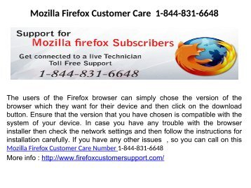 Mozilla Firefox Customer Service 1-844-831-6648
