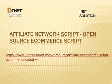 Affiliate network script - Open source ecommerce script