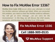 Call 1888-909-0535 to Fix McAfee Error Code 1336