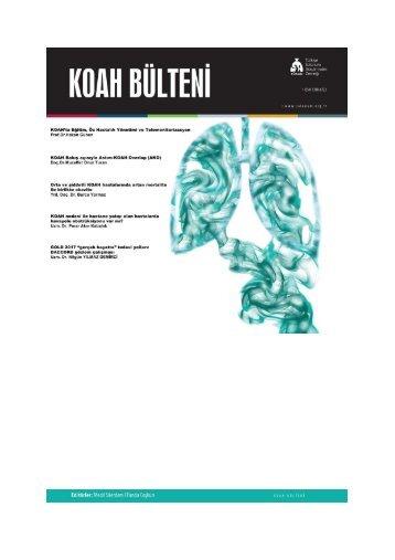 KOAH Bülteni 2018 Sayı 1